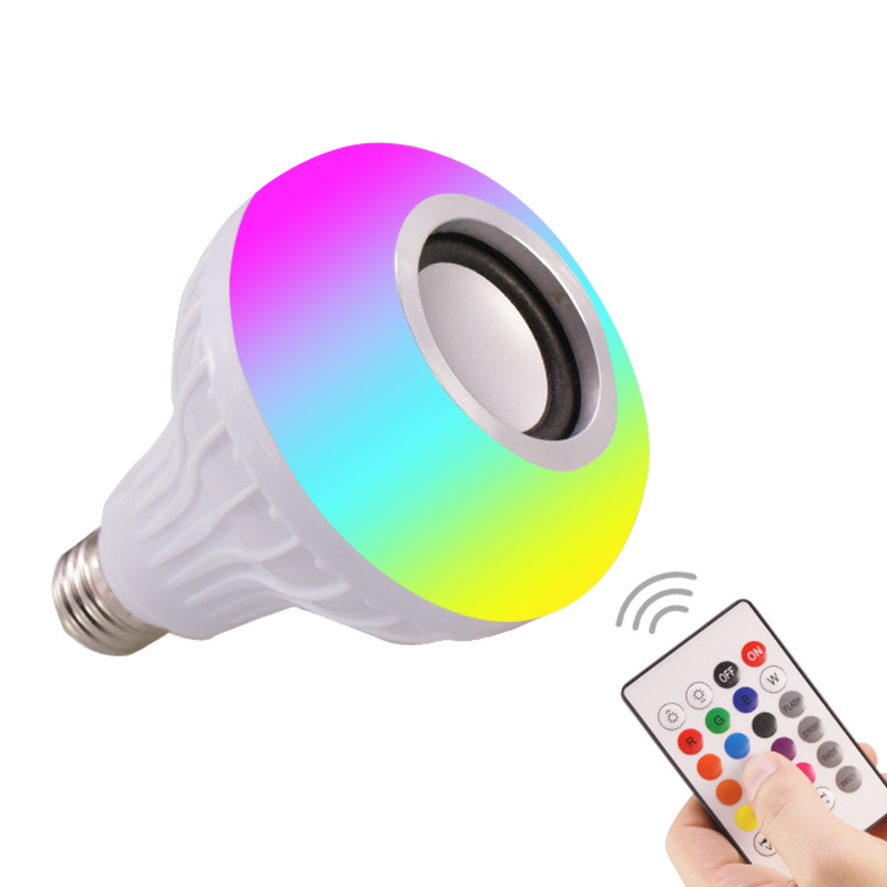 RGB remote control bluetooth music bulb light led smart bulb WiFi colorful music bulb stage light