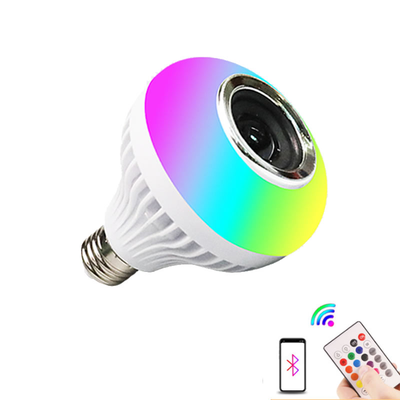 LED colorful bluetooth bulb E27 screw port wireless remote control bluetooth RGB color changing musi
