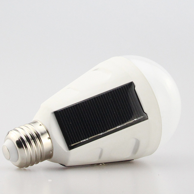 Solar emergency light bulb stand, rechargeable light bulb, outdoor LED solar emergency bulb